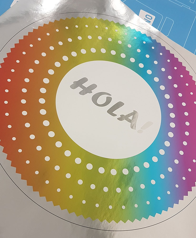 metallic self-adhesive label