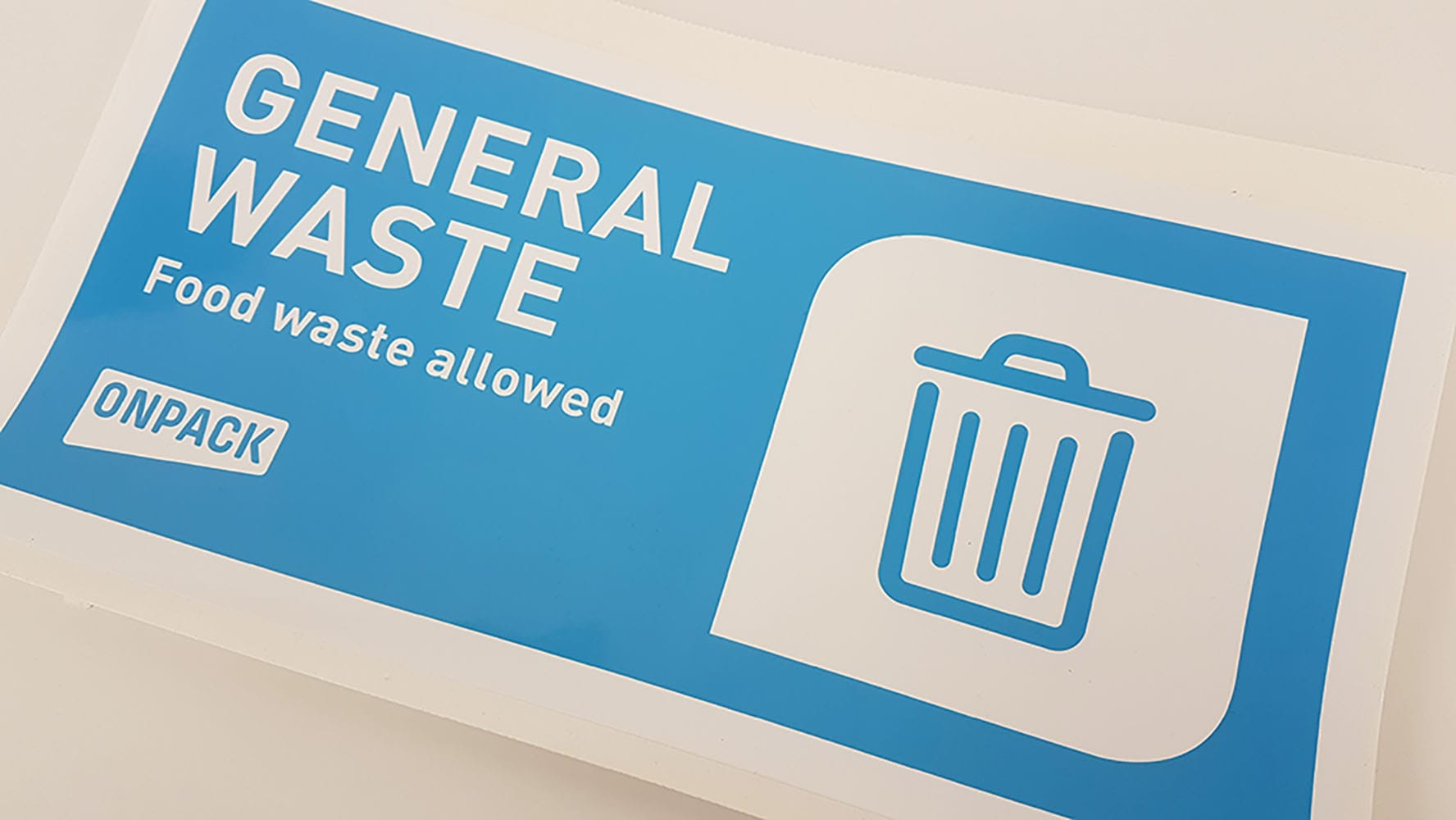 general waste label