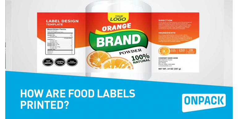 How Are Most Food Labels Printed?