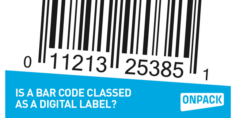 Is a Bar Code Classed as a Digital Label?