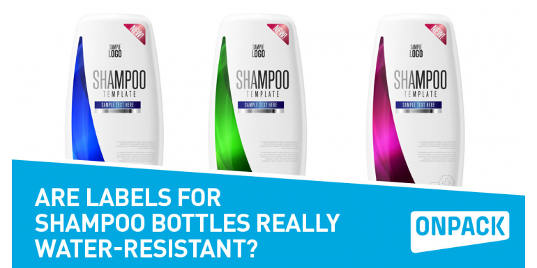 Are Labels For Shampoo Bottles Really Water-Resistant?